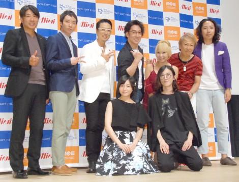 映画『さざ波ラプソディー』舞台あいさつに出席したキャスト一同 (C)ORICON NewS inc.