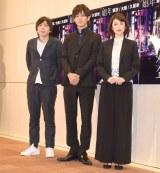 舞台『娼年』の囲み取材に出席した(左から)三浦大輔、松坂桃李 、高岡早紀 (C)ORICON NewS inc.