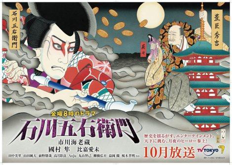 現代浮世絵師・石川真澄氏が描いた第1弾ポスタービジュアル(C)テレビ東京