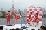 リオ五輪で団体金メダルを獲得した日本男子体操チームのメンバー5人のうち、コナミスポーツクラブに所属する内村航平、山室光史、田中佑典、加藤凌平の4選手がイベントに参加
