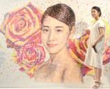 13万枚のマスキングシールを使用した高畑充希の肖像画がお披露目に (C)ORICON NewS inc.