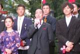 映画『真田十勇士』レッドカーペットセレモニーに出席した(左から)大島優子、中村勘九郎、松坂桃李 (C)ORICON NewS inc.