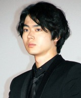 映画『何者』完成披露舞台あいさつに出席した菅田将暉 (C)ORICON NewS inc.
