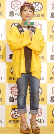 『元気寿司商品開発コンテスト』に出席した矢口真里 (C)ORICON NewS inc.