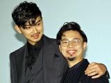 映画『ディアスポリス- DIRTY YELLOW BOYS-』舞台あいさつに登場した(左から)松田翔太、浜野謙太 (C)ORICON NewS inc.