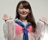 初主演映画『好きでもないくせに』初日舞台あいさつに出席した璃子 (C)ORICON NewS inc.