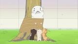 あらゆる方法を駆使してネコたちの爪とぎに立ち向かうゴマちゃん(C)森下裕美・OOPTeam Goma.