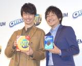 ナビスコの新CMイメージキャラクターに決定した(左から)長谷川博己、大森南朋 (C)ORICON NewS inc.