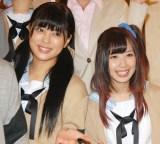 舞台『ReLIFE/リライフ』の公開舞台稽古を行った(左から)荒井萌、高柳明音 (C)ORICON NewS inc.