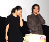 映画『だれかの木琴』初日舞台あいさつの模様(左から)常盤貴子、池松壮亮 (C)ORICON NewS inc.