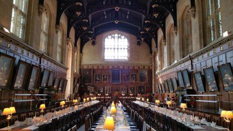 2位にランクインしたオックスフォード大学の食堂は、映画『ハリー・ポッター』で有名