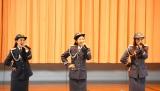 交通安全イメージソングを初披露した(左から)松井りな、岡田彩花、にわみきほ(C)ORICON NewS inc.
