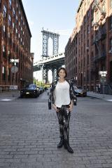 「NYの真夏の日差しも久しぶりに浴びることができました」とのびのび撮影できた様子(C)テレビ朝日