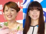 島袋寛子の婚約を祝福した(左から)今井絵理子、上原多香子 (C)ORICON NewS inc.