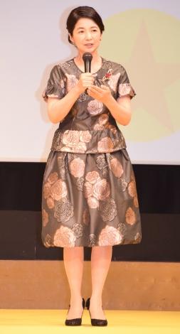 映画『金メダル男』の完成披露舞台あいさつに登壇した宮崎美子 (C)ORICON NewS inc.
