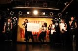 ひめキュンフルーツ缶の新曲発売記念イベントで発表(左は怒髪天の増子直純) Photo by オオタシンイチロウ
