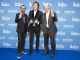 ドキュメンタリー『ザ・ビートルズ〜EIGHT DAYS A WEEK-The Touring Years』ロンドン・ワールド・プレミアに登場した(左から)リンゴ・スター、ポール・マッカートニー、ロン・ハワード監督