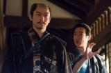 NHK大河ドラマ『真田丸』第14回より。上杉一行ののもとに三成が訪れる(C)NHK