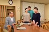 娘の愛が何の相談もなく「幸楽」の改装を決めたことに怒り心頭の五月(左から)角野卓造、吉村涼、村田雄浩、泉ピン子(C)TBS