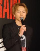 映画『HiGH&LOW THE RED RAIN』完成舞台あいさつに出席した登坂広臣 (C)ORICON NewS inc.