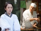 NHK連続テレビ小説『とと姉ちゃん』で父娘を演じたピエール瀧(右)と川栄李奈(左)(C)NHK