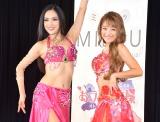 動画サイト『MILOU(ミルゥ)』の制作記者発表会見に出席した(左から)杉谷知香、鈴木奈々 (C)ORICON NewS inc.