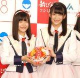 『新潟米 2016新米収穫』記者発表会に出席したNGT48(左から)清司麗菜、奈良未遥 (C)ORICON NewS inc.