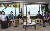 新シーズン『TERRACE HOUSE ALOHA STATE』がスタート。ハワイまでお家を見に行ったスタジオメンバー(左から)馬場園梓、徳井義実、YOU、トリンドル玲奈、健太郎、山里亮太 (C)ORICON NewS inc.