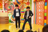 ウッチャンナンチャンの2人が2016年テレビ初共演へ。写真は映画『金メダル男』撮影時の様子 (C)「金メダル男」製作委員会