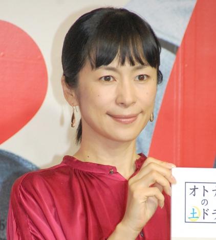ドラマ『とげ 小市民 倉永晴之の逆襲』制作発表会見に出席した西田尚美 (C)ORICON NewS inc.