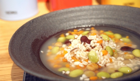 サムネイル もち麦とお豆のスープリゾット