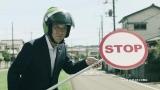 ロリポップマンに扮する松戸市長(松戸PR動画『Family Support No.1』篇より)