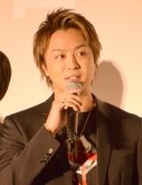 映画『HiGH&LOW THE RED RAIN』初日舞台あいさつに出席したTAKAHIRO (C)ORICON NewS inc.