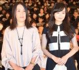 映画『少女』初日舞台あいさつに出席した(左から)湊かなえ氏、佐藤玲 (C)ORICON NewS inc.