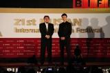 """映画『シン・ゴジラ』が『第21回釜山国際映画祭』で韓国""""初上陸"""" 舞台あいさつに長谷川博己、樋口真嗣監督が駆けつけた"""