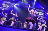 『EMOTIONAL IDOROCK FES.』初日より(左から大矢梨華子、傳谷英里香、林真夏、高見奈央、渡邊璃生)