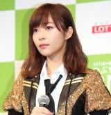 『HKT48vs欅坂46 つぶやきCMグランプリ』開催発表記者会見を行ったHKT48・指原莉乃 (C)ORICON NewS inc.