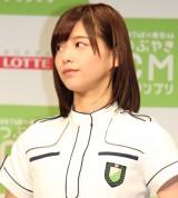 『HKT48vs欅坂46 つぶやきCMグランプリ』開催発表記者会見を行った欅坂46・渡邉理佐 (C)ORICON NewS inc.