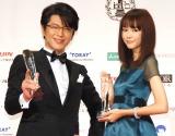 『ベストフォーマリスト賞』を受賞した(左から)及川光博、桐谷美玲 (C)ORICON NewS inc.