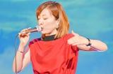 平原綾香が『ZTE スマートフォン ハイエンドモデル』新製品発表会にゲスト出演、中島みゆきが作詞作曲を手掛けた「アリア -Air-」を披露(C)oricon ME inc.