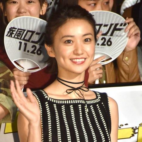 映画『疾風ロンド』完成披露舞台あいさつに登壇した大島優子 (C)ORICON NewS inc.