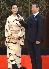 『京都国際映画祭2016』オープニングセレモニーに出席した(左から)名取裕子、木村祐一 (C)ORICON NewS inc.