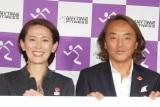 『ANYTIME FITNESS JAPAN』プレス発表会に出席した(左から)有森裕子、北澤豪 (C)ORICON NewS inc.