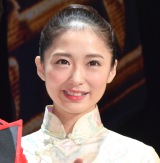 ミュージカル『ミス・サイゴン』初日公演前の囲み取材に出席した笹本玲奈 (C)ORICON NewS inc.