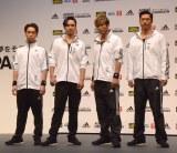 (左から)TETSUYA、橘ケンチ、黒木啓司、AKIRA (C)ORICON NewS inc.
