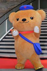 映画『魔法つかいプリキュア!キュアモフルン!』完成披露クマプレミアムイベントに出演したぽすくま(日本郵便) (C)ORICON NewS inc.