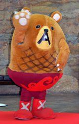 映画『魔法つかいプリキュア!キュアモフルン!』完成披露クマプレミアムイベントに出演したハンバーグマのグーグー(日本ハンバーグ協会) (C)ORICON NewS inc.