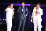 『岡村隆史のオールナイトニッポン歌謡祭 in 横浜アリーナ』に出演した(左から)岡村隆史、久保田利伸、出川哲朗
