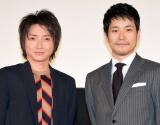 新『デスノ』の印象を語り合った(左から)藤原竜也、松山ケンイチ (C)ORICON NewS inc.
