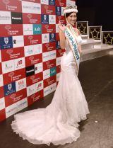 白のドレスで抜群のプロポーションを披露した筒井菜月さん (C)ORICON NewS inc.